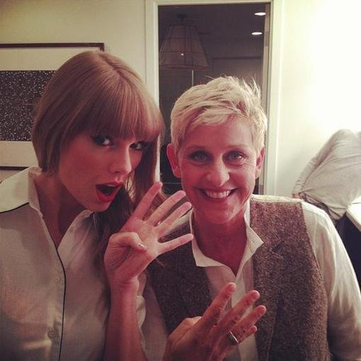 Taylor Swift counted down the days to her album release while making a stop at the Ellen show. Source: Twitter user taylorswift13