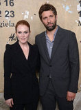 Julianne Moore and Bart Freundlich posed at the launch of Maison Martin Margiela for H&M in NYC.