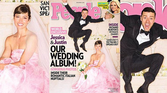 Video: See Justin and Jessica's First Wedding Photo — More Dress Details!