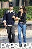 Olivia Wilde and Jason Sudeikis walked through Rome with their arms linked.