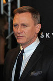 Daniel Craig posed on the red carpet for the Paris premiere of the new James Bond movie, Skyfall.