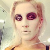 Ellie Goulding showed off her Halloween makeup. Source: Twitter user elliegoulding