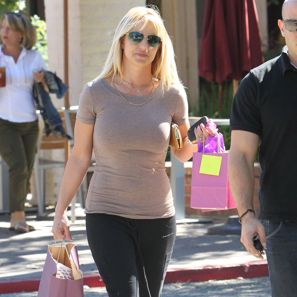 Britney Spears went shopping in Calabasas.