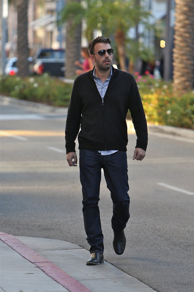 Ben Affleck crossed the street.