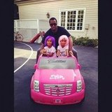 Diddy rode around with his daughters D'Lila and Jessie. Source: Twitter user iamdiddy