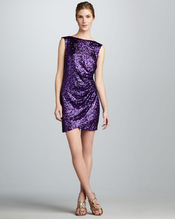 You'll be the belle of the ball — and stand out in a sea of LBDs — in Ali Ro's Lowback Sequined Dress ($298).