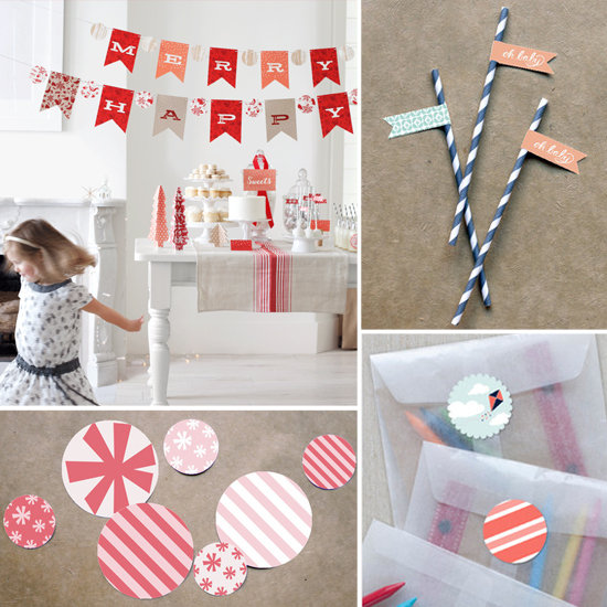 Minted party decor collections popsugar moms for Baby full month decoration ideas