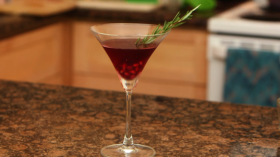 To Your Health: Pomegranate Rosemary Martini