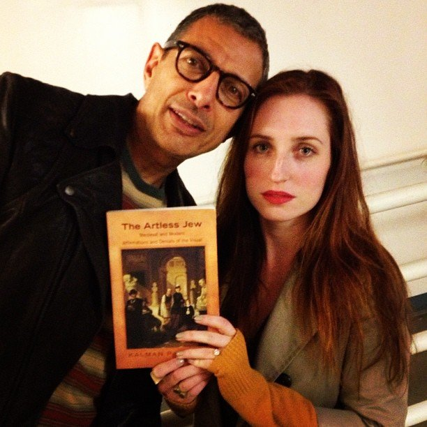 Zoe Lister-Jones and Jeff Goldblum bonded over some, er, reading material? Source: Instagram user zoelisterjones