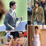 Ian Somerhalder, Scarlett Johansson, Olivia Wilde, and More Stars on Set