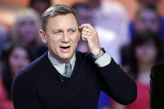Daniel Craig was in Paris to promote his new film Skyfall.