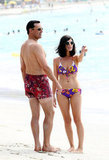 Jon Hamm and Jessica Paré stepped out in Maui to film  Mad Men.