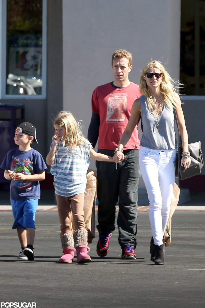 Gwyneth Paltrow and Chris Martin spent time with Apple and Moses in LA.