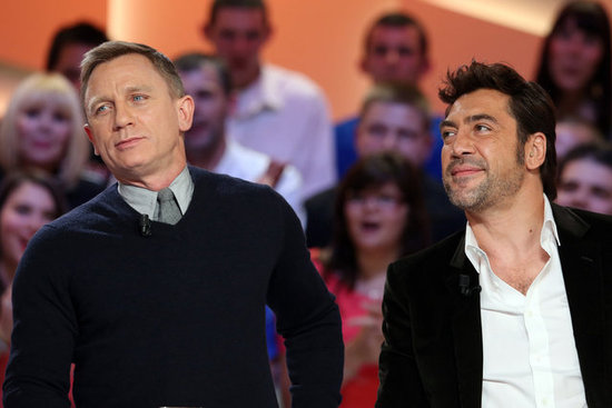 Daniel Craig and Javier Bardem promoted Skyfall in Paris.