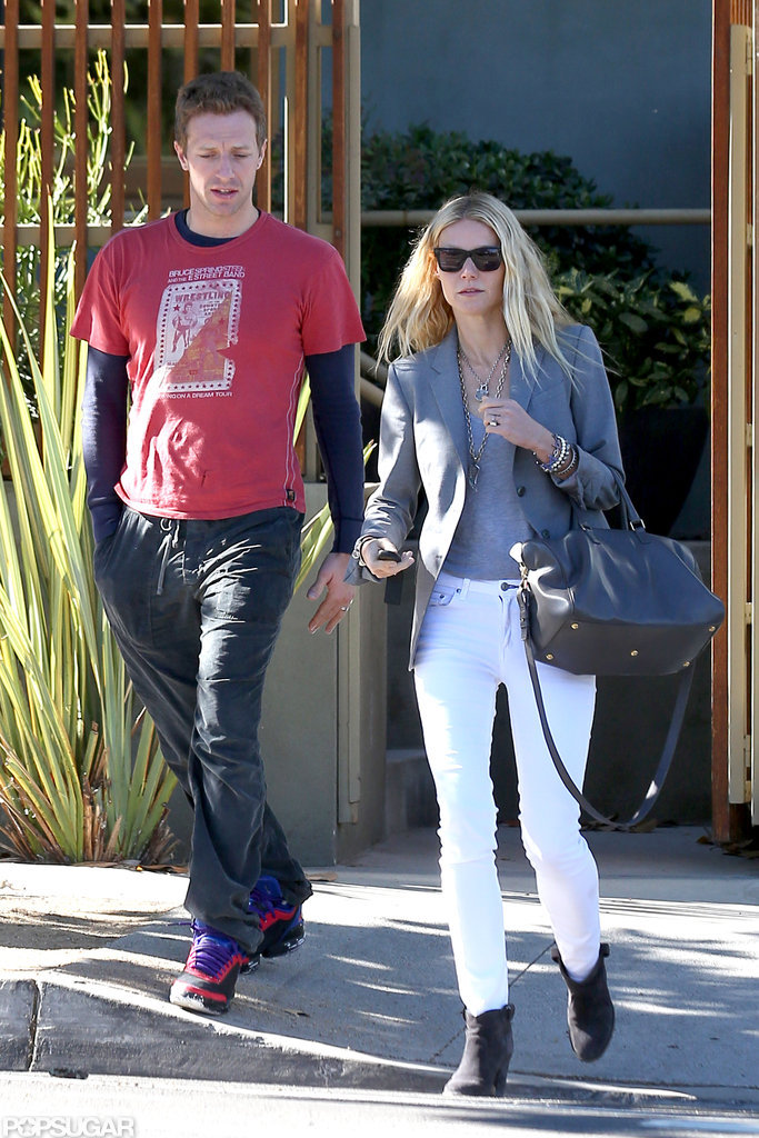 Gwyneth Paltrow and Chris Martin ran errands together in LA.