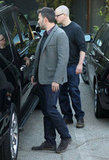 Ben Affleck left a meeting with Matt Damon in LA.