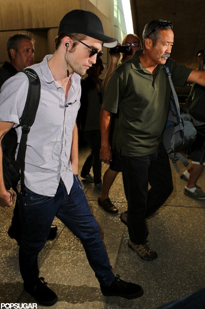 Robert Pattinson made his way out of the airport.