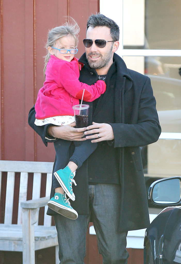 Ben and Seraphina Affleck stuck close.