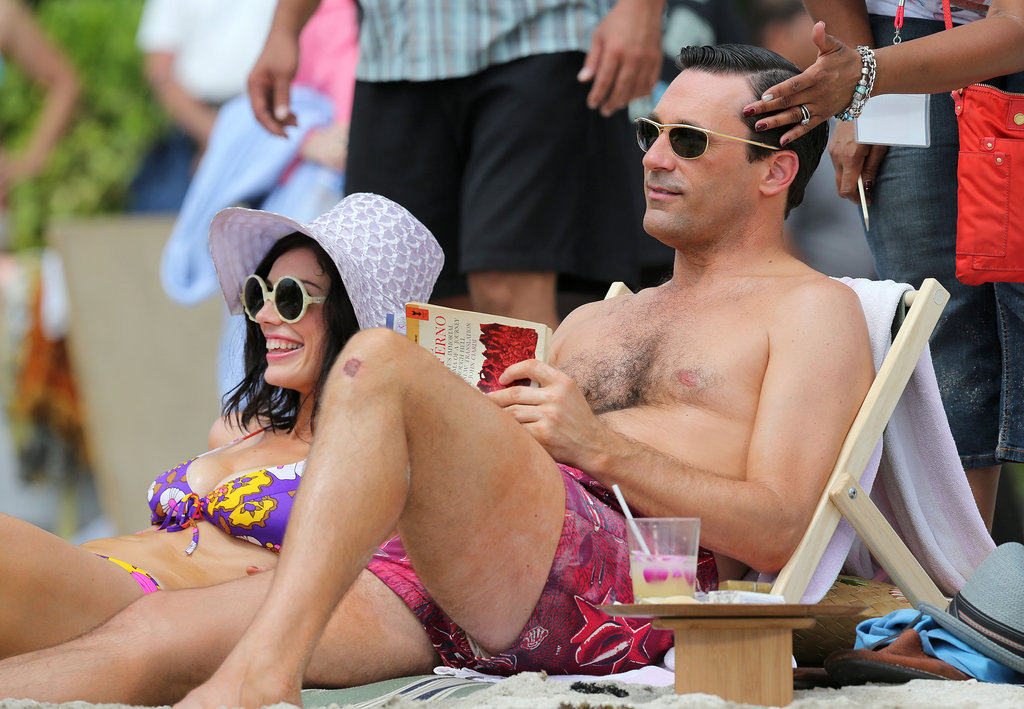 Jon Hamm filmed Mad Men.