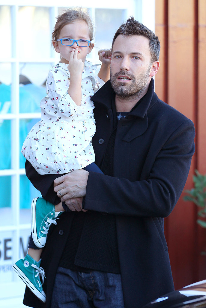 Ben carried Seraphina Affleck to the car.
