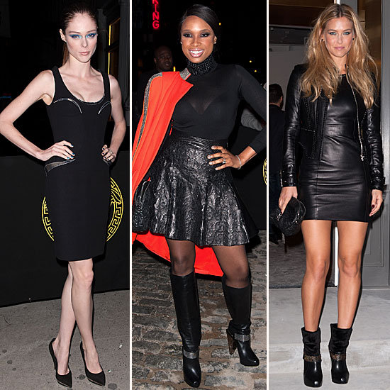 Versace's Party Guests (Obviously) Opt For Leather and Bustiers