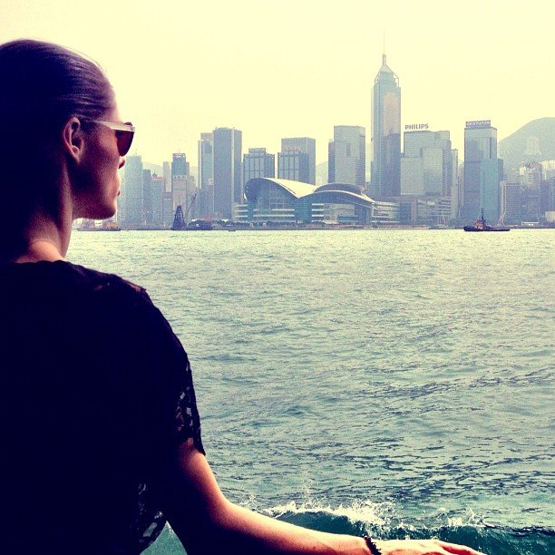 "Coco Rocha shared a photo from her ""whirlwind"" trip to Hong Kong. Source: Twitter user cocorocha"