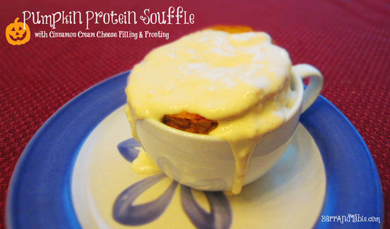 Barr & Table Perfect Fit Protein Pumpkin Souffle Laughing Cow Cinnamon Cream Cheese Filling Frosting