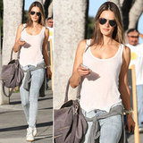 Looking to pull off cool-girl street style like Alessandra Ambrosio? It's all right here.