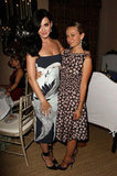 Katy Perry joined Jennifer Meyer, who dressed for the occasion in a printed tea-length dress.