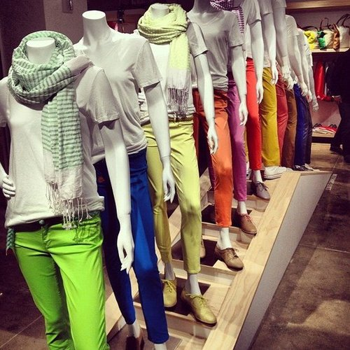 Gap's Spring preview was all about colorful pants. We couldn't decide which pair we liked best!