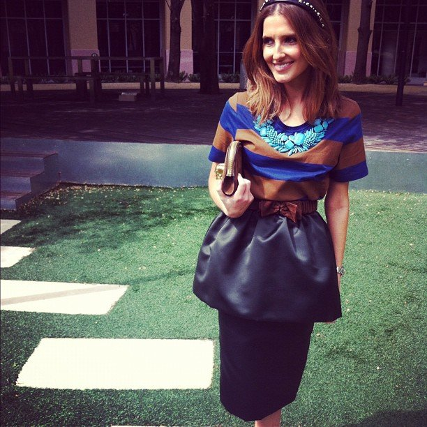 Kate Waterhouse picked a Burberry outfit for the Caulfield Cup. Source: Instagram user katewaterhouse7