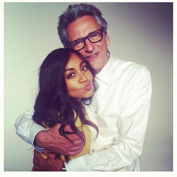 Jessica Mauboy cuddled up to photographer Gary Heery. Source: Instagram user mushroom1