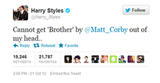 Looks like Aussie singer Matt Corby has a fan in One Direction heartthrob, Harry!
