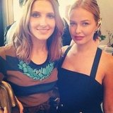 Kate Waterhouse and Lara Bingle caught up at the Caulfield Cup. Source: Instagram user mslbingle