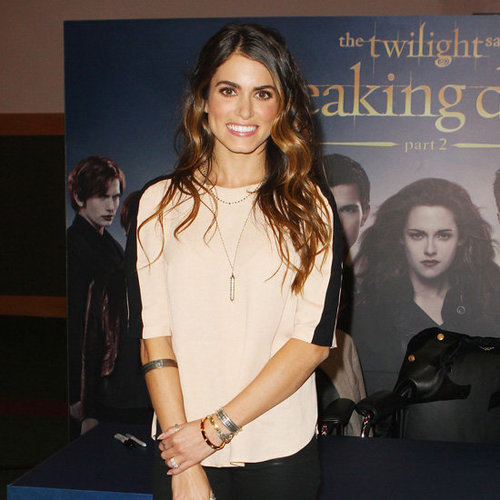 Nikki Reed Wearing Nude and Black Top