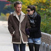 Anne Hathaway and Adam Shulman Walking Dog Esmerelda Pics