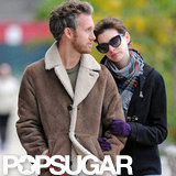 Anne Hathaway wore sunglasses to walk in Brooklyn.