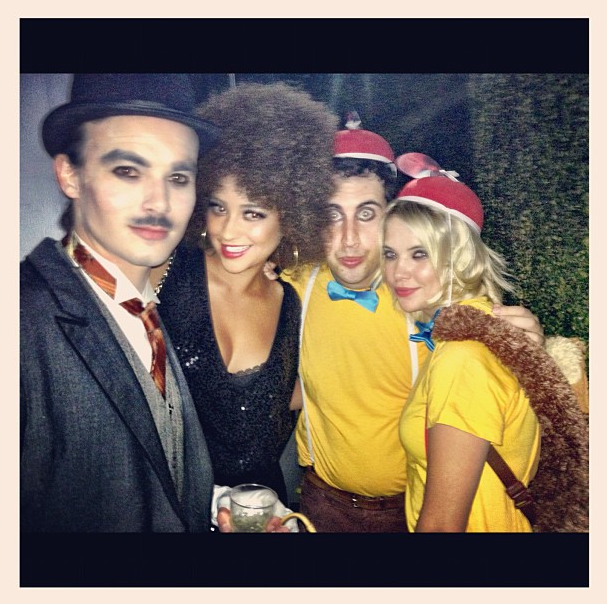 Shay Mitchell and Ashley Benson dressed up with friends.  Source: Instagram user shaym