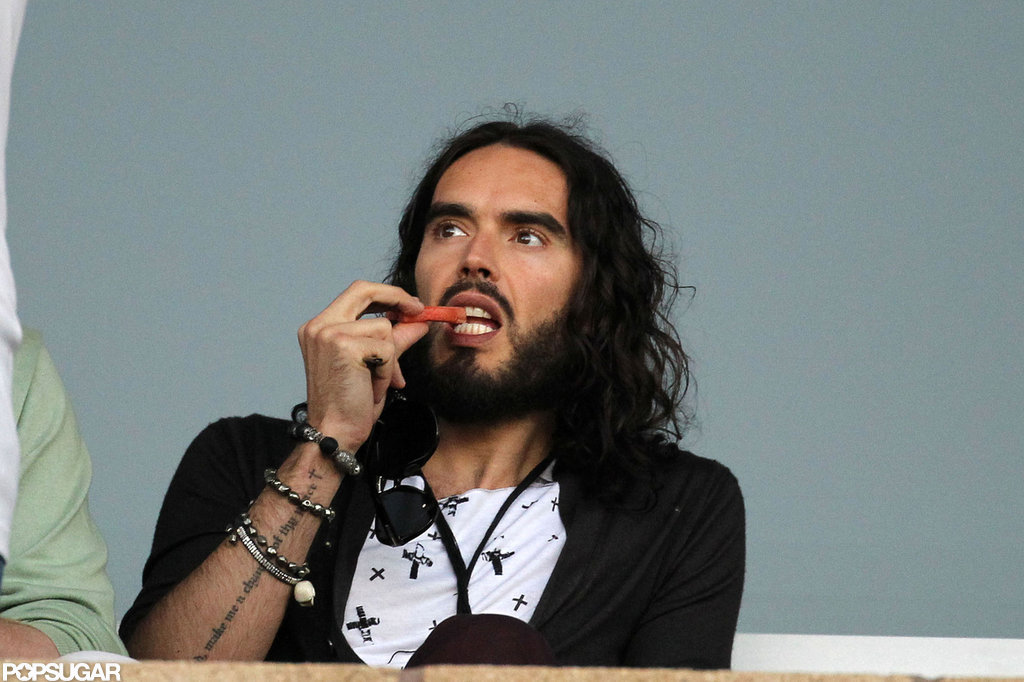 Russell Brand stepped out to watch the LA Galaxy play in LA.