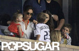 Victoria Beckham stepped out with her children to watch the LA Galaxy in LA.