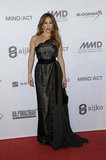 Jennifer Lopez wore a lace black gown for the UNESCO Charity Gala in Germany.