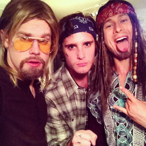 Chord Overstreet and Diego Boneta got into the Halloween spirit.  Source: Instagram user chordoverstreet