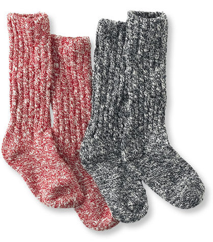You've got your rain boots, but a lot of the time, rain boots aren't endowed with the best insulation. Thus, stay warm (and prepared) with these L.L.Bean soft textured socks ($20).