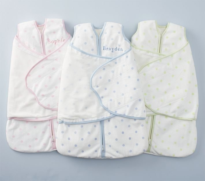 Pottery Barn Kids Chamois Dot HALO Sleep Sack Swaddle