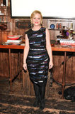Amy Poehler wore a printed Rag & Bone dress.