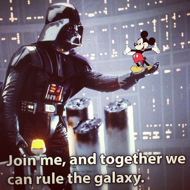 """#disney buys #lucasFilm for 4.05 billion."" — claytongraul Source: Instagram user claytongraul"