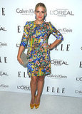 Busy Philipps sported a fabulously busy printed Dolce & Gabbana dress to the Elle Women in Hollywood event in the middle of the month.