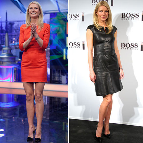 Gwyneth Paltrow in Black Leather Dress 2012