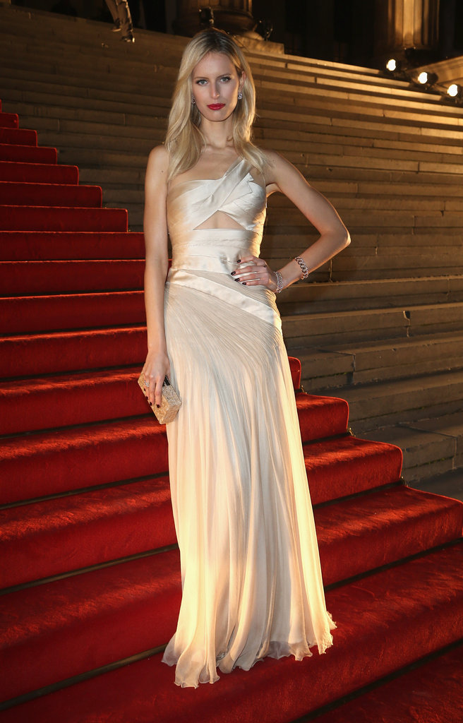 Karolina Kurkova posed in a gorgeous formfitting Carlos Miele Spring '13 gown.