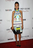 Kerry Washington stunned on the red carpet in a bold digital print dress from Mary Katrantzou's Spring 2013 collection. She kept the focus on the gorgeous dress by pairing it with simple black pumps and a leather clutch.